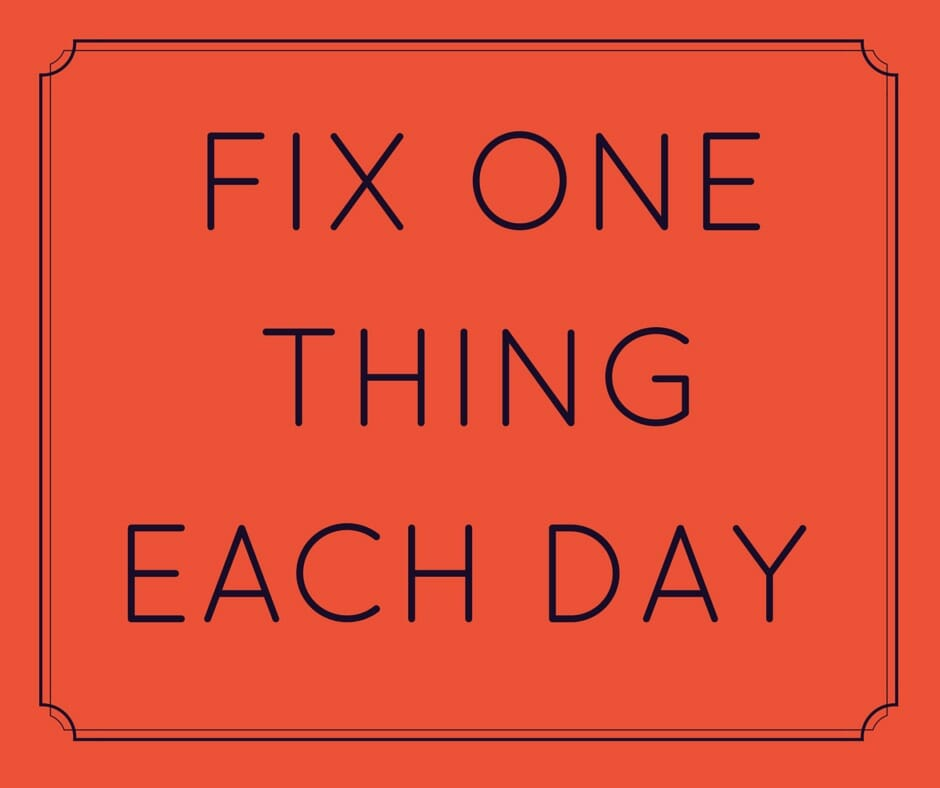Fix One Thing Each Day