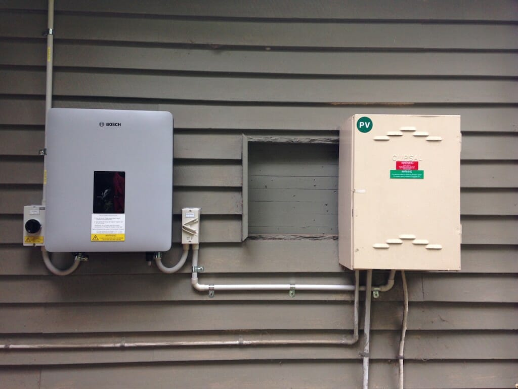 Bosh Inverter alongside Distribution Board
