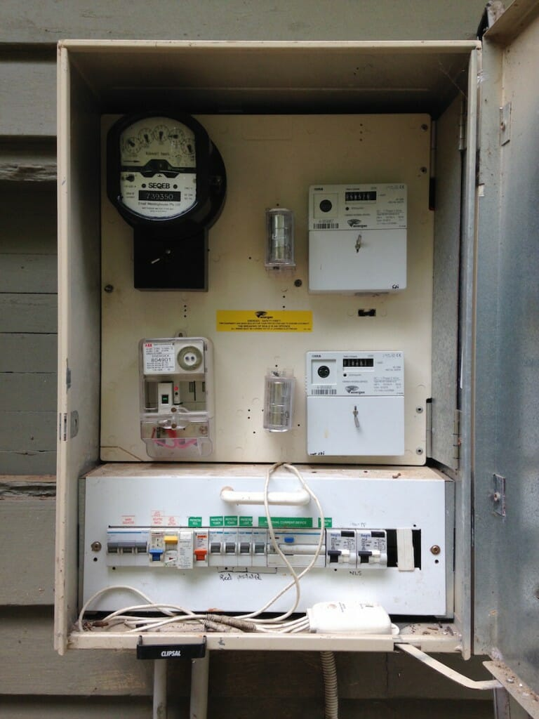 Distribution Board before PV Solar