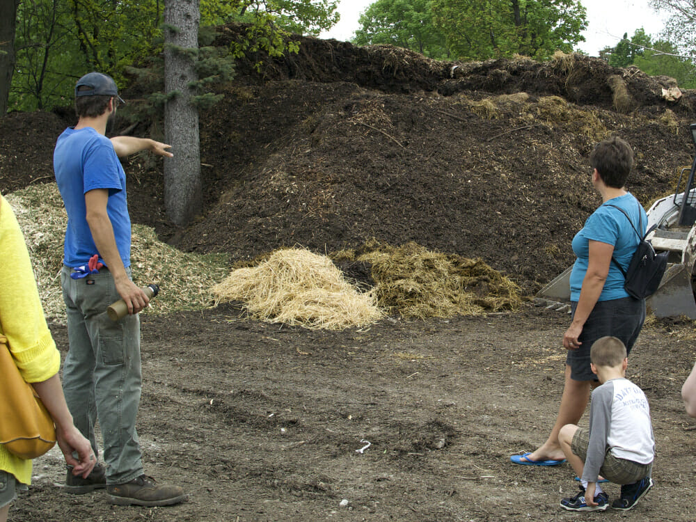 Mounds of Compost Photo by Chris Kirby