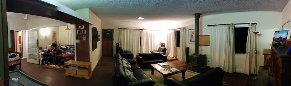 the lounge and TV room