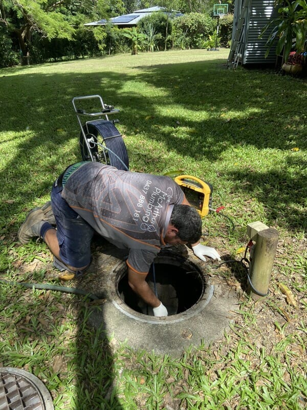 Pressure Cleaning the Drains